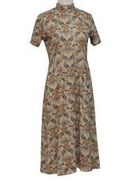 vintage dress 70 s slinky vintage 70 s dress 70s no label womens beige light