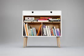 White Bookcase by Modern White Bookcase Credenza With Drawer