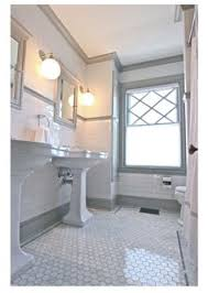 Marble Tile Bathroom Floor Benjamin Moore Wickham Gray With Subway Tile U0026 Hex Floor Tile We