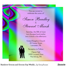 you are invited to celebrate rainbow groom and groom wedding invitations 15 off http