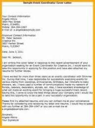 Sample Resume Event Coordinator by Event Coordinator Cover Letter Entry Level Regarding Marketing