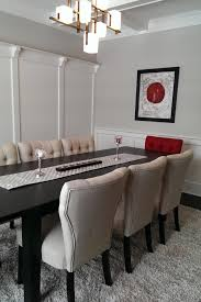red and grey dining room home design ideas