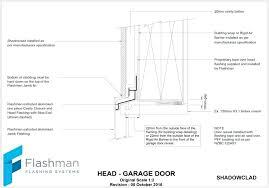 Overhead Door Sizes Garage Door Detail Overhead Door Garage Door Section Cad Detail
