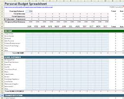 Financial Spreadsheet Personal Budget Spreadsheet Template For Excel
