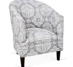 Black And White Accent Chair Jacquard Patterned Accent Chair Mediterranean Armchairs And Within
