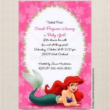 mermaid baby shower invitations ariel mermaid baby shower invitations baby cachet