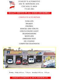 lexus body shop chicago stanley u0027s automotive 6001 w montrose ave chicago il 60634