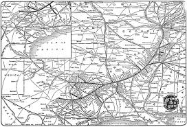 Railroad Map Usa by The Cotton Belt St Louis Southwestern Railway
