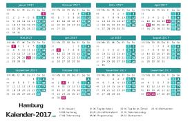 Kalender 2018 Hamburg Brückentage Feiertage Hamburg 2017