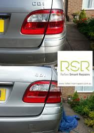 mercedes paint repair cosmetic smart repair to rear bumper tailgate of mercedes