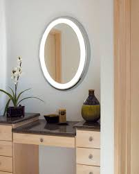 backlit mirror designer bathroom mirrors with lights home bathroom oval led backlit mirror