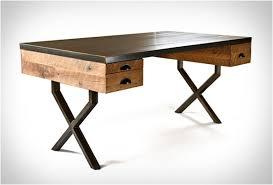 bureau bois acier walter desk bureau chene bureau et acier