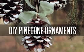 diy pinecone tree ornaments