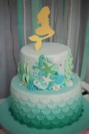 mermaid birthday cake 2 tier 1st birthday cake from littlest mermaid 1st birthday party
