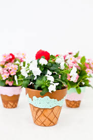 Flower Pot Painted Waffle Cone Ice Cream Flower Pots Fresh Mommy Blog