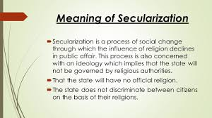 secularization and religious conflict ppt