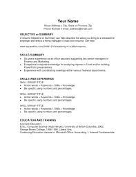 Simple Form Of Resume Curriculum Vitae Resume Template For Administrative Assistant