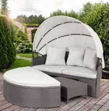 venus round garden sofa daybed circular design with folding