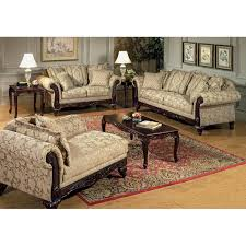 Kira Bedroom Set by Serta Kelsey Fabric Sofa With Ornate Wood Carvings Dcg Stores
