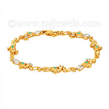 bracelet ladies designs images 22kt peacock design ladies bracelet raj jewels jpg