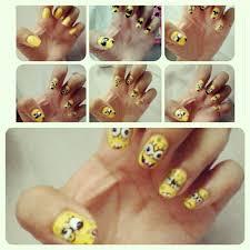 spongebob expressions nail art