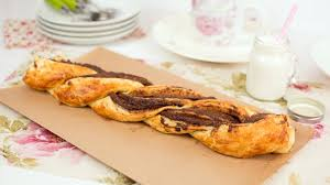 nutella puff pastry braid easy chocolate puff pastry dessert