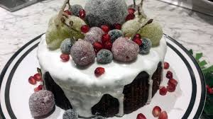 Christmas Cake Decorations Youtube by How To Sugar Frosted Fruit Decoration For Cake Youtube