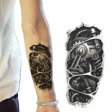 3d large shoulder tattoos temporary tatto men temporary waterproof