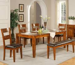 mango 6 pc solid mango table set with bench by steve silver