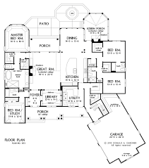 arts and crafts open floor plan