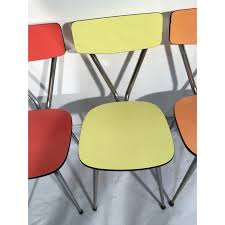 Pastel Dining Chairs Set Of 4 Dining Chairs In Pastel Colored Formica 1960s Design