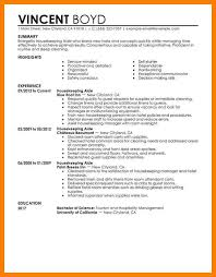 8 housekeeping resume examples informal letters