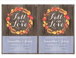 Couples Shower Fall In Love Couple U0027s Shower Invitation Fall Couples Shower Fall