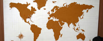 how to make a cork board world map man made diy crafts for