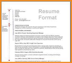 sample of resume format for job application sample resume andjob