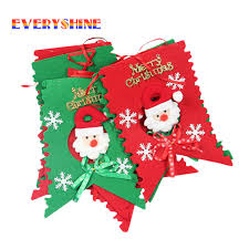 2017 merry 6pcs lot santa hanging ornaments flags window