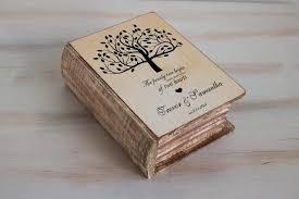box personalized wedding ring box wedding tree box personalized ring box rustic
