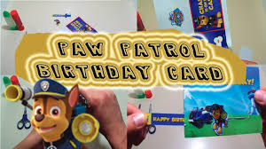 paw patrol pull tab birthday card party supplies party ideas