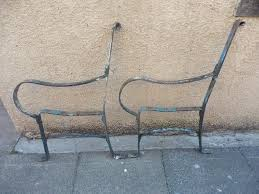 wrought iron bench ends pair of antique wrought iron bench ends in lochgelly fife gumtree