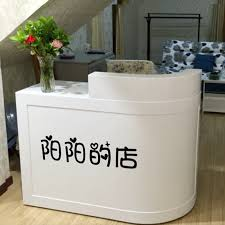 Mini Reception Desk Usd 60 17 Baking Varnish Corner Cashier Counter Simple Modern