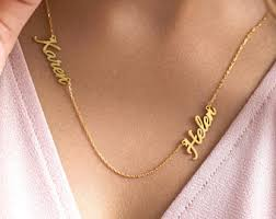 two name necklace two names necklace etsy