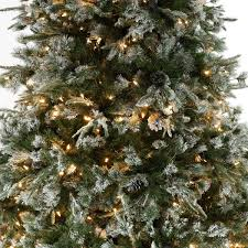 pre lit green snow effect liberty pine artificial christmas tree