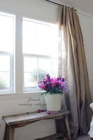 Linen Burlap Curtains Simple Burlap Drapes French Country Cottage