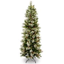 national tree company 6 5 ft wintry pine slim tree with clear