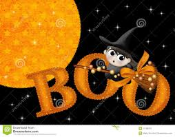 halloween background black cat little witch boo halloween background royalty free stock images