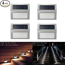 solar deck lights amazon solar deck lights ithird 3 led solar powered step lights stainless