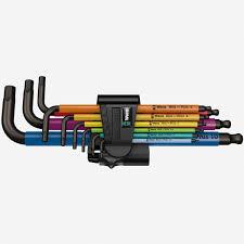 Hex Key Set by Wera Tools 073593 Multicolor Hex Ball End Hex Metric L Key Clip Set