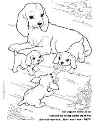 Printable Coloring Pages Of Dogs Dog Vitlt Com Dogs Color Pages