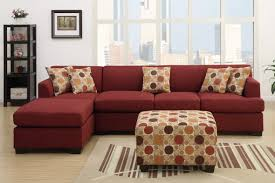 L Shaped Sofa With Chaise Lounge by Red Fabric Chaise Lounge Steal A Sofa Furniture Outlet Los