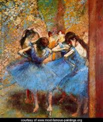 the most famous paintings avenue de l dancers in blue 1890 edgar degas www most famous
